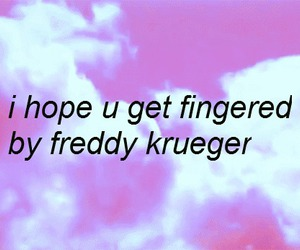 freddy krueger, fingered, and text image