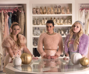 chanel, lea michele, and scream queens image