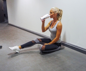 blonde, goal, and workout image
