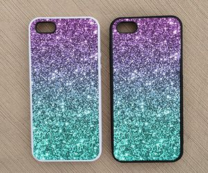 diy, glitter, and iphone case image