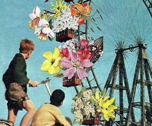 flowers, kids, and art image
