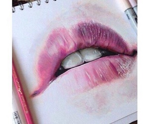 lips, art, and pink image