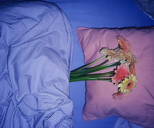 flowers and bed image