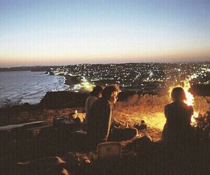 friends, fire, and city image