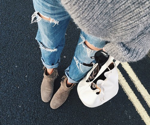 autumn, boyfriend jeans, and december image