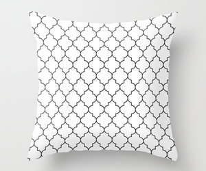 black and white, etsy, and decorative pillow image
