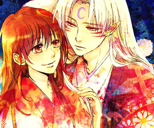 sesshoumaru, inuyasha, and rin image