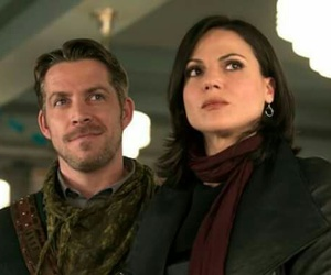 once upon a time, robin hood, and regina mills image