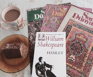 bookself, love book, and Hamlet image