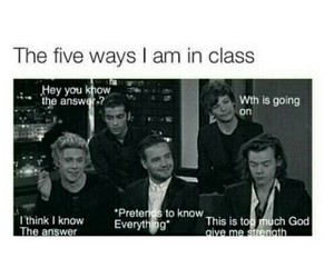 funny, school, and one direction image
