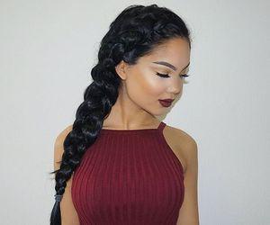 makeup, girl, and braid image