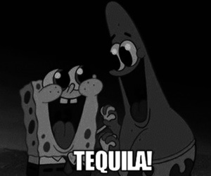 tequila, drink, and spongebob image