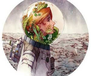 plants and spaceman image
