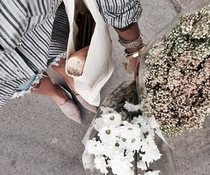 flowers, indie, and white image