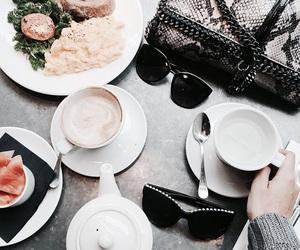 food, coffee, and sunglasses image