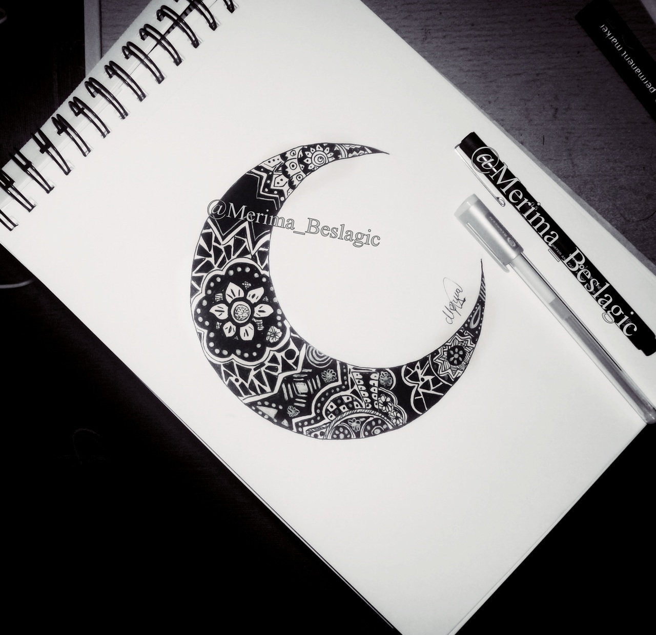 I love you to the moon and back a moon drawing by merima beslagic