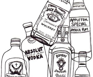 draw, whiskey, and absolut vodka image