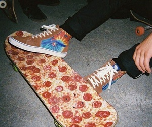 pizza, skate, and grunge image