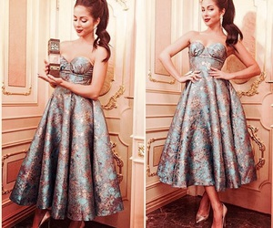 celebrity, dress, and fancy image