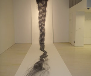 braid, plait, and hair image