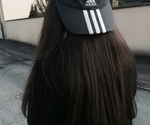 adidas, black, and hair image