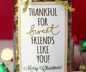 christmas, friends, and gift image