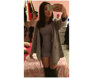 black, boots, and outfit image