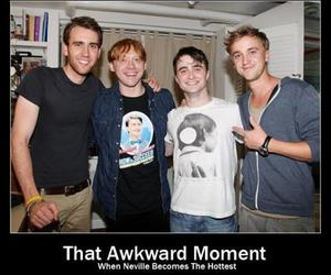 harry potter, neville, and Hot image