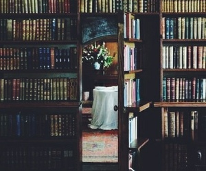 books, vintage, and library image