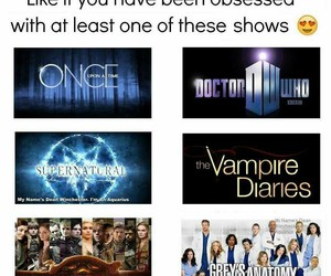 doctor who, once upon a time, and supernatural image