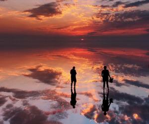 sky, sunset, and landscape image