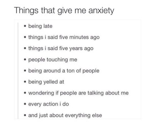 anxiety, funny, and hate image