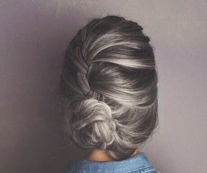 hair, chignon, and coiffure image