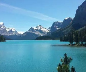 beautiful, blue, and lake image