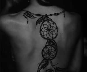 dreamcatchers and backtattoo image