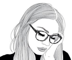 girl, outline, and art image
