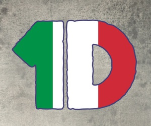 one direction, italy, and emoji image