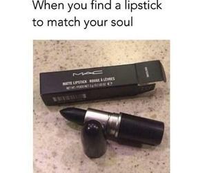 lipstick, black, and soul image