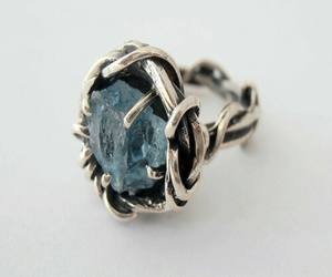 blue, ring, and silver image