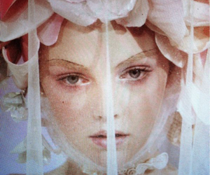 fashion, flowers, and veil image