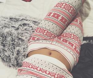 winter, christmas, and pajamas image