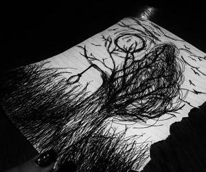 blackandwhite, Darkness, and horror image