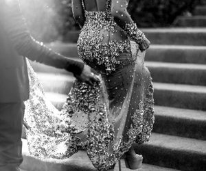 beyoncé, dress, and black and white image