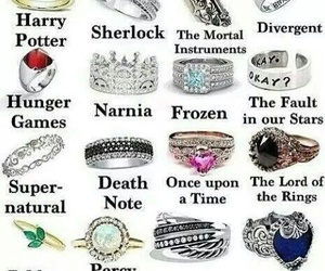 fandom, rings, and harry potter image