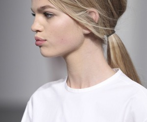hair, model, and white image