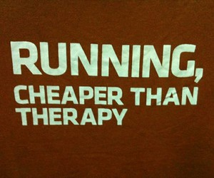 running, therapy, and fitness image