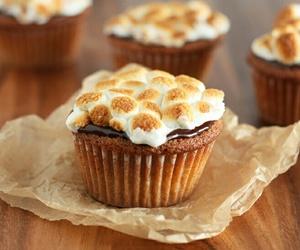 cupcake, chocolate, and smores image