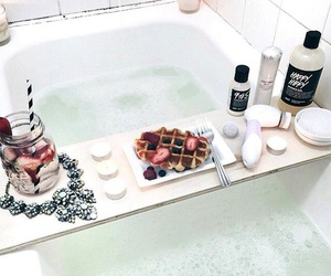 bath, lush, and food image