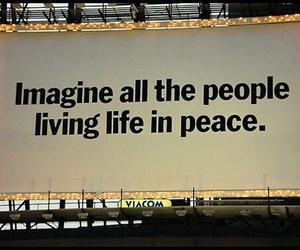peace, imagine, and john lennon image