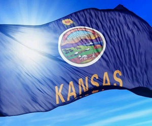 flag, Kansas, and flowing image
